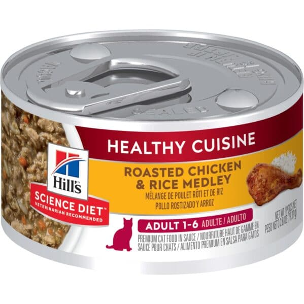 Hill's Adult 1-6 Healthy Cuisine Roasted Chicken Rice Cat Food