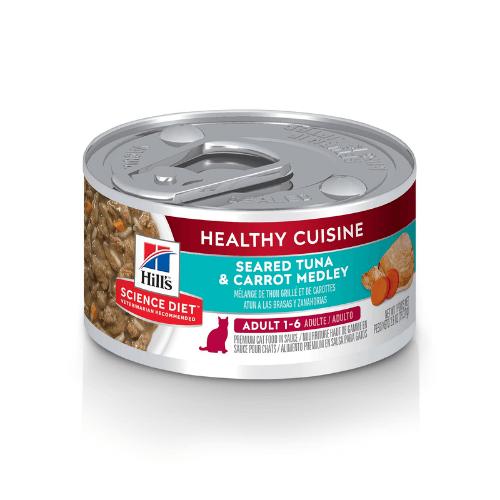 Hill's Adult 1-6 Healthy cuisine seared tuna carrot Cat Food