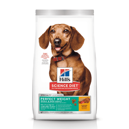 Hill's Adult 1-6 perfect weight small mini Dog Food 6.8kg