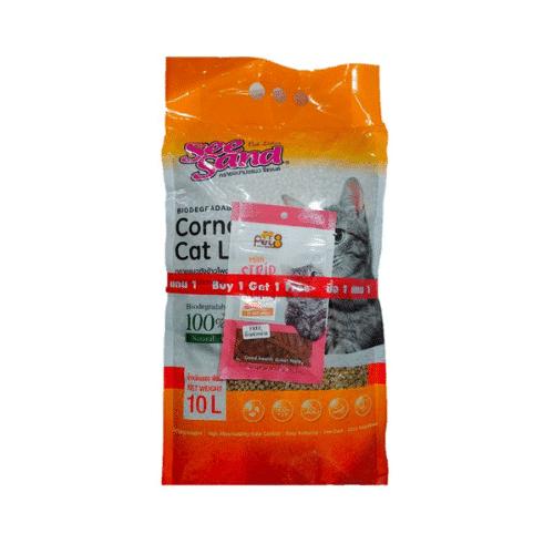 Pet8 See Sand Corncob 100% Cat Litter 10L.